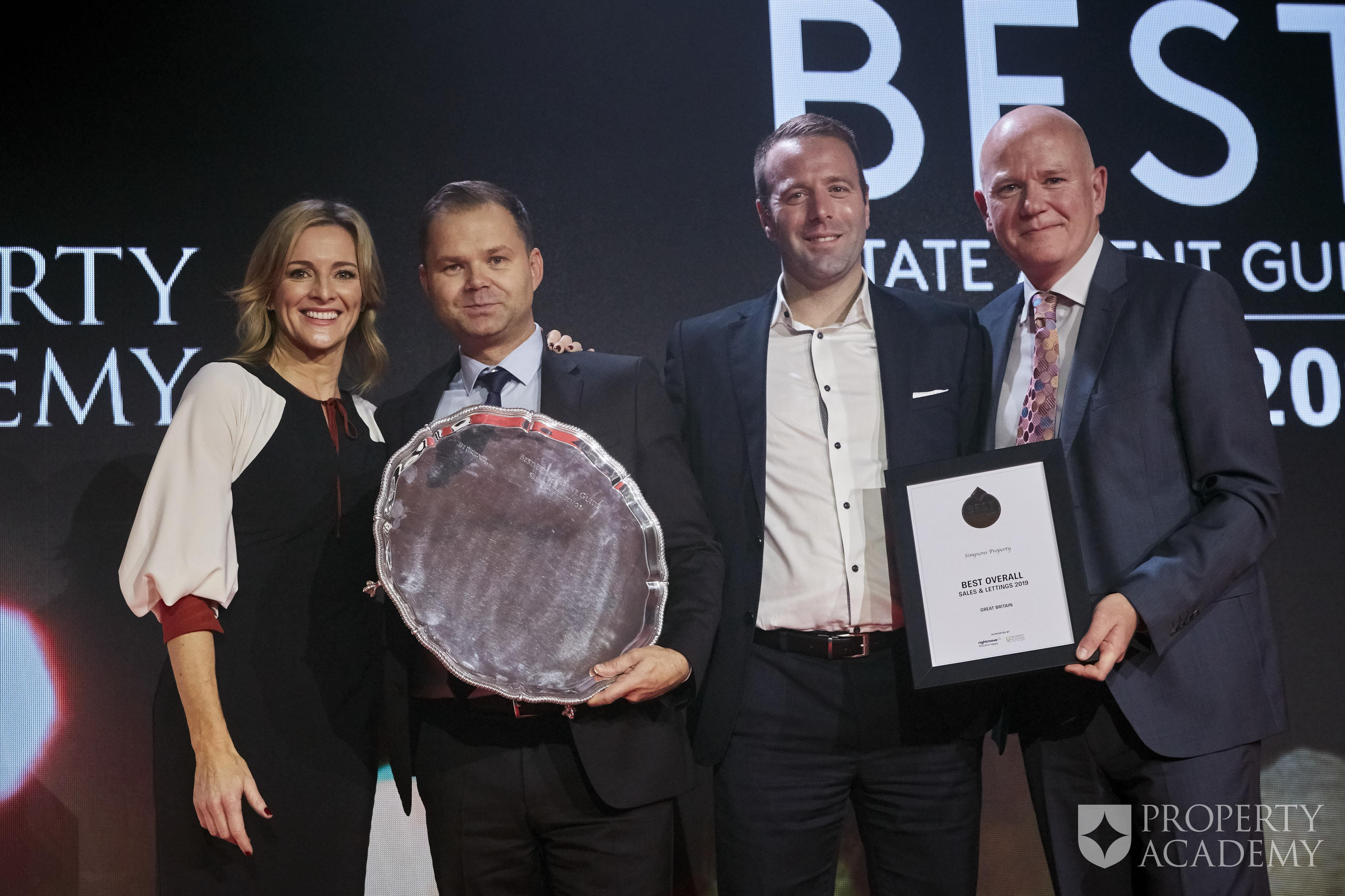 Simpsons Estate Agency Win National, Excellence Award